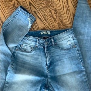 Light blue Rewash skinny jeans